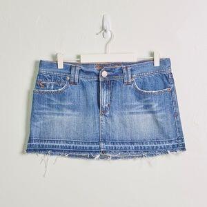 Abercrombie Denim Mini Skirt w/ Raw Hem